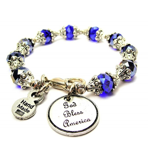 God Bless America Capped Crystal in Sapphire Blue Chubby Chico Charms Exclusive - CV12D36UD1P