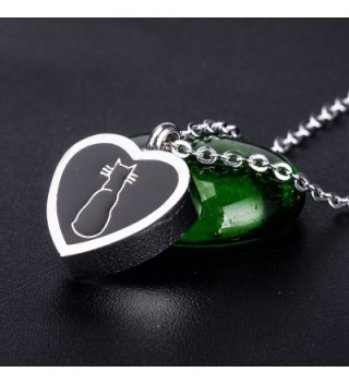 Memorial Necklace Stainless Detachable Cremation in Women's Pendants