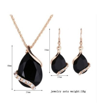 Ezing Crystal Pendant Necklace Earring