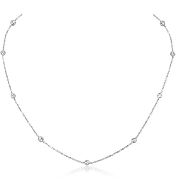 Humble Chic Simulated Diamond Necklace - Silver-Tone - CG12GLSCIQ5