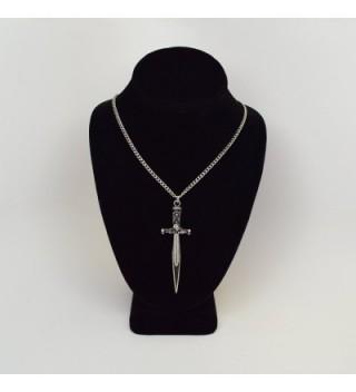 Engraved Medieval Rennaissance Pendant Necklace