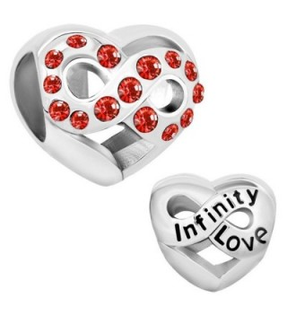 LovelyJewelry Infinity Love Heart Charms JAN-DEC Simulated Birthstone Synthetic Crystal Beads For Bracelet - CV12N0HQ5QP