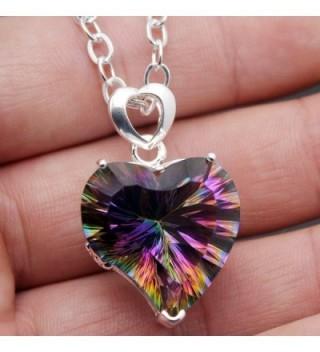Silver Heart Pendant Mystic Necklace in Women's Pendants