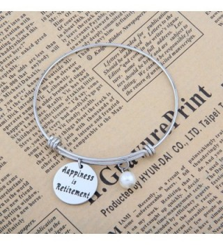SEIRAA Retirement Happiness Adjustable Thanksgiving in Women's Bangle Bracelets