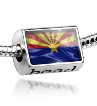 Bead Arizona 3D Flag region: America (USA) - Charm Fit All European Bracelets - - C011BL1I0KL