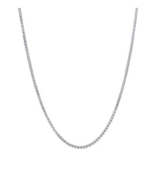 1mm 925 Sterling Silver Nickel-Free Box Chain Necklace - Made in Italy + Jewelry Polishing Cloth - C011OO4R2HT