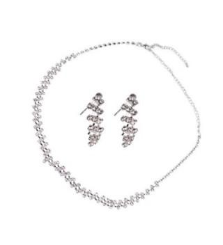 Wedding Pageant Jewelry Rhinestone Necklace - S - C911JTN2H11
