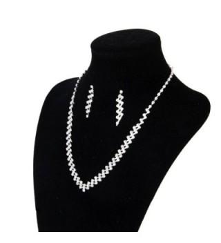 Wedding Pageant Jewelry Rhinestone Necklace in Women's Jewelry Sets