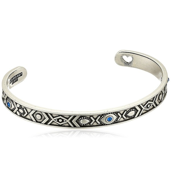 Alex and Ani Womens Evil Eye Cuff Bracelet - Rafaelian Silver - C518322CHXY