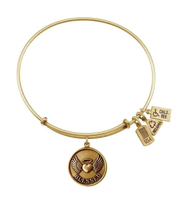 Wind and Fire Blessed Charm Bangle Bracelet (Antique Gold Finish) - CI11WYLJI67