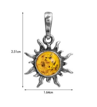 Amber Sterling Silver Flaming Pendant in Women's Pendants