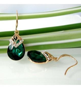 Navachi Plated Crystal Zircon Earrings in Women's Drop & Dangle Earrings