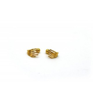 Chelsea Jewelry Basic Collections 3D Hand shaped Stud screw-back Earrings - Yellow Gold - CS12FXQESZZ