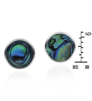 Inlay Abalone Sterling Silver Earrings in Women's Stud Earrings