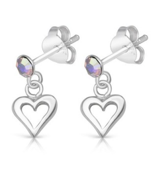 Sterling Silver Simulated Rhodium Earrings