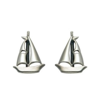 Sterling Silver Sailboat Stud Earrings - CP110TAAE11