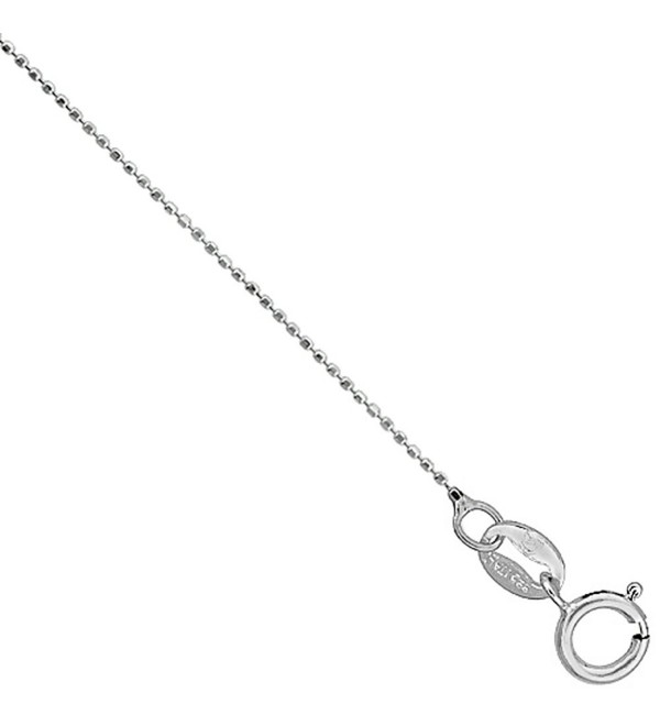 Sterling Silver Faceted Baby Pallini Bead Ball Chain Necklace Very Thin 0.75mm Nickel Free- 16-18 inch - CM11H0KM9V3