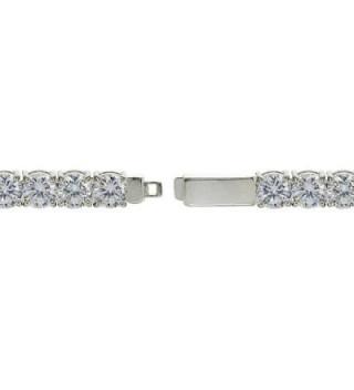 Sterling Silver Zirconia Round cut Bracelet