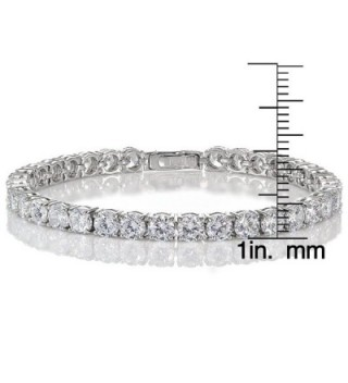 Sterling Silver Zirconia Round cut Bracelet in Women's Tennis Bracelets