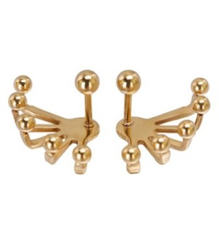 Penderie Front & Back Earrings Stainless Steel Ear Studs Earbobs Ear Clips- 1 Pair - CY121IGICPV
