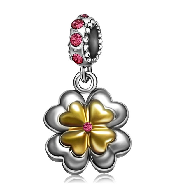 JMQJewelry Clover Charms 6 Colors Christmas Gifts Dangle Crystal Bead For Bracelets - CE184UND2CK