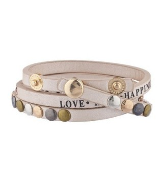 Lux Accessories Happiness Rhinestone Bracelet