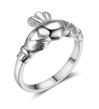 Sterling Silver Irish Ladies Claddagh in Women's Band Rings