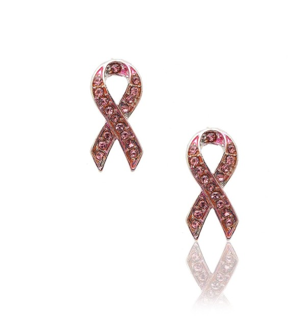 Spinningdaisy Breast Cancer Awareness Ribbon Earrings (pink) - CL11BE0ID8N