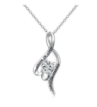 "S925 Sterling Silver ""Always My Mother- Forever My Friend"" Twist Pendant Necklace for Mom - CD188HKSR4S"