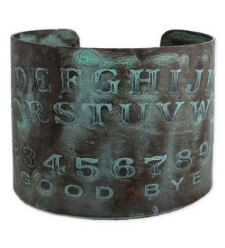 Etched Spirit Board Patina Wide Metal Cuff Bracelet - C917Z6D5C3U