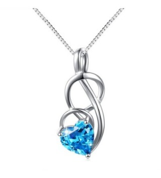 JZMSJF Birthday Birthstone Necklace Sterling - CM187W8DG60