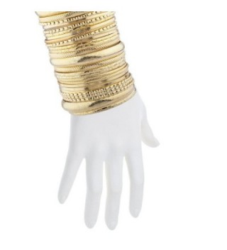 Lux Accessories Goldtone Textured%C3%82 Multiple Bracelet