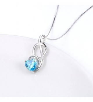 JZMSJF Birthday Birthstone Necklace Sterling
