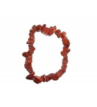 "1pc Natural Healing Crystal Red Goldstone Chip Gemstone 7"" Stretch Bracelet - CD110A4WHIF"