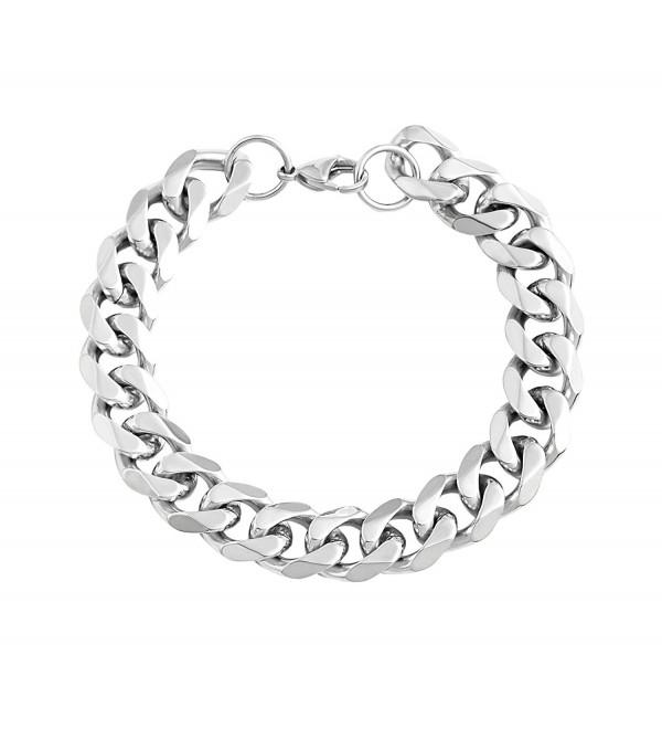 Edforce Stainless Steel Wristband Bracelets - CM12F8YWGX3