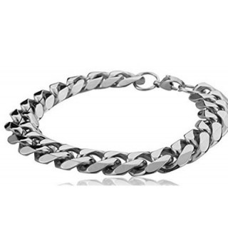 Edforce Stainless Steel Wristband Bracelets in Women's Link Bracelets
