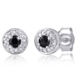 Black Diamond Earring Sterling Silver