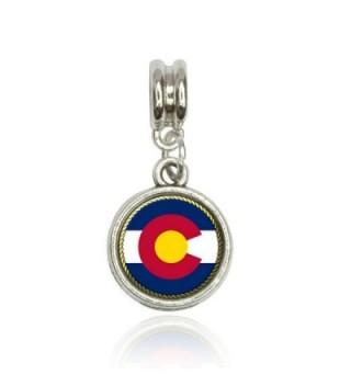 Colorado State Flag Euro European Italian Style Bracelet Bead Charm - CG11L4TBH87