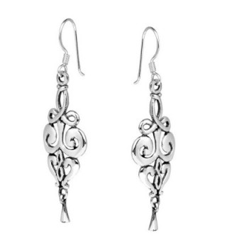 Elegant Vintage Swirls Sterling Earrings