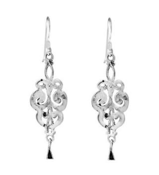 Elegant Vintage Swirls Sterling Earrings in Women's Drop & Dangle Earrings