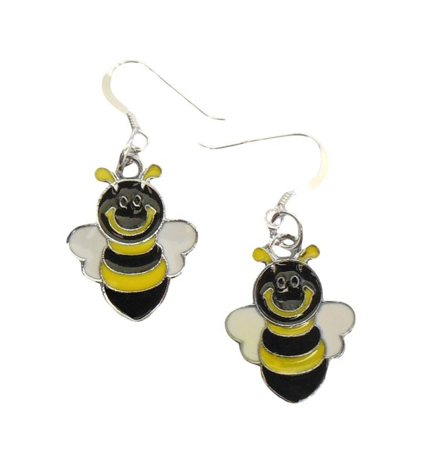 "Bumble Bee Earrings .925 Sterling Silver Earwires 1-1/2"" IN GIFT BOX - CU11WC2SHMJ"