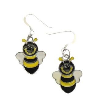 "Bumble Bee Earrings .925 Sterling Silver Earwires 1-1/2"" IN GIFT BOX - CU11WC2SHMJ"