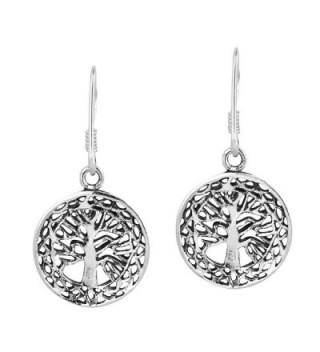 Mystic Celtic Sterling Silver Earrings in Women's Drop & Dangle Earrings
