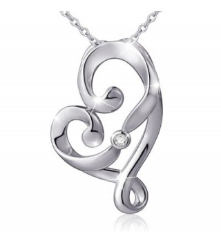 """(Mother and Child's Love) 925 Sterling Silver Infinity Love Knot Pendant Necklace- Rolo Chain 18"""" - CM17X6S35UM"""
