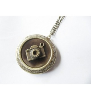 Vintage Camera Locket Photographer Necklace