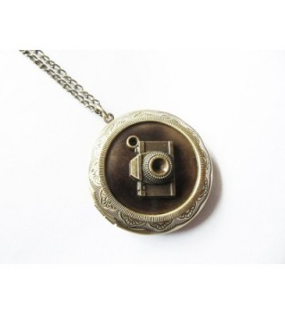 Vintage Camera Locket Photographer Necklace in Women's Lockets