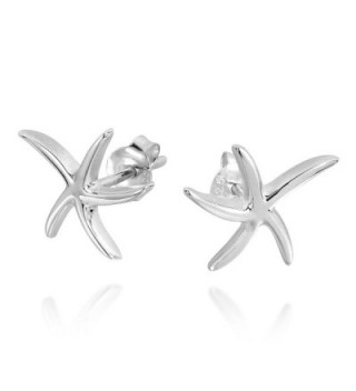 Adorable Starfish Sterling Silver Earrings