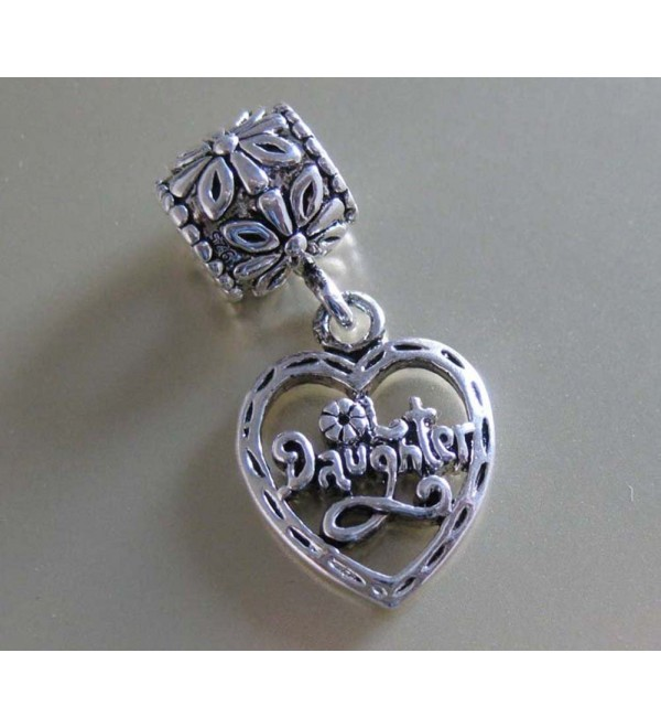 J. Jewelry Daughter Dangle Charm Bead Fit for Snake Chain Bracelet - CO11BF5ELXD