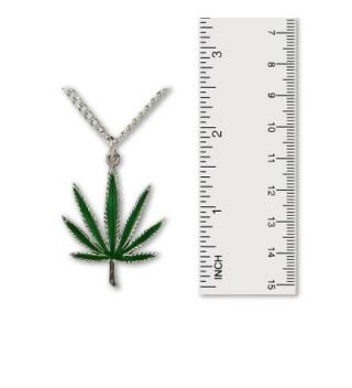 Marijuana Enamel Silver Pendant Necklace in Women's Pendants