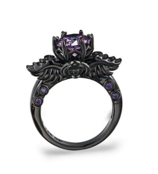FENDINA Engagement Amethyst Solitaire Anniversary